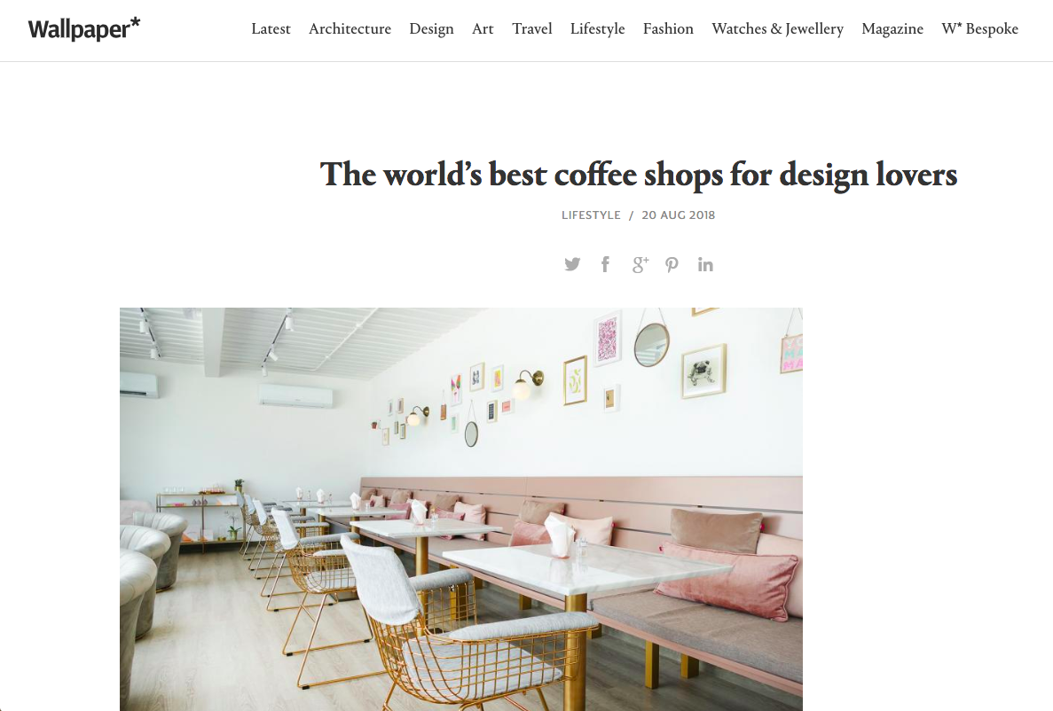 Wallpaper magazine - Best Coffee Shops for Design Lovers