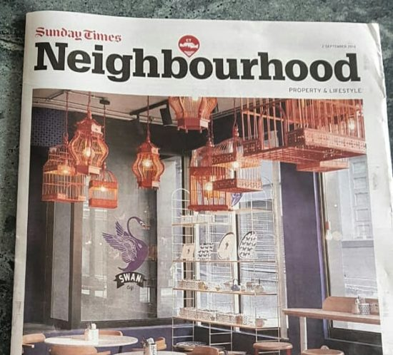 Sunday Times Neighbourdhood, East City, 2 September 2018, Swan Cafe