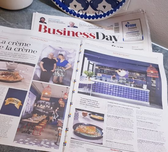 Business Day, 24 August, Swan Cafe