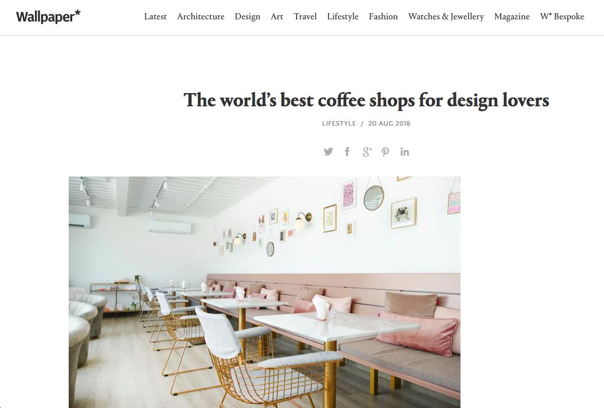 Wallpaper magazine - Best Coffee Shops for Design Lovers