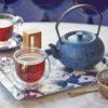 Swan Tea Tray small with teapot