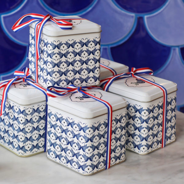 Swan tea tins