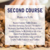 Swan dinner menu